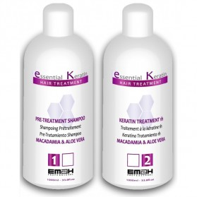 Kit de Lissage Brésilien Essential Keratin 1000ml